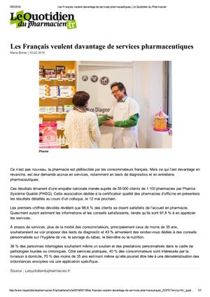 Les Français Veulent Davantage De Services Pharmaceutiques