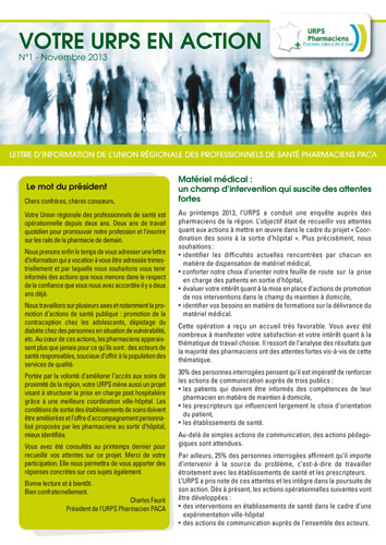 Newsletter Novembre 2013