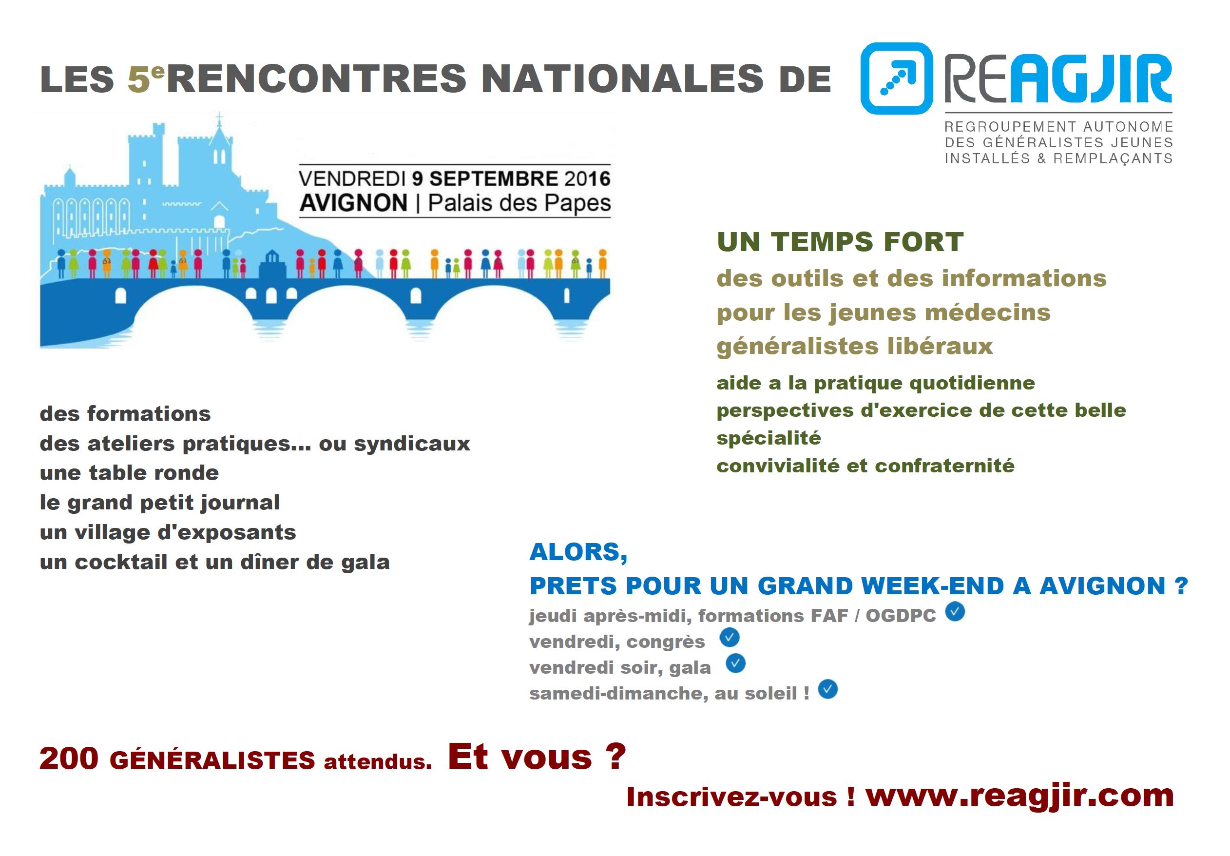 Vendredi 9 Septembre 2016 : Avignon, Capitale Des Jeunes Médecins Généralistes !