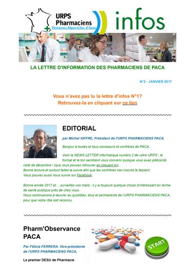 Newsletter N°2 – Janvier 2017