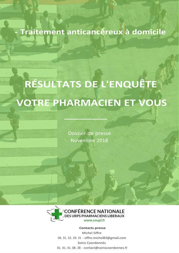 CHIMIOTHERAPIES ANTICANCEREUSES ORALES A DOMICILE : La CNUPL Lance L'initiative « Votre Pharmacien Se Mobilise Avec Vous Contre Le Cancer »