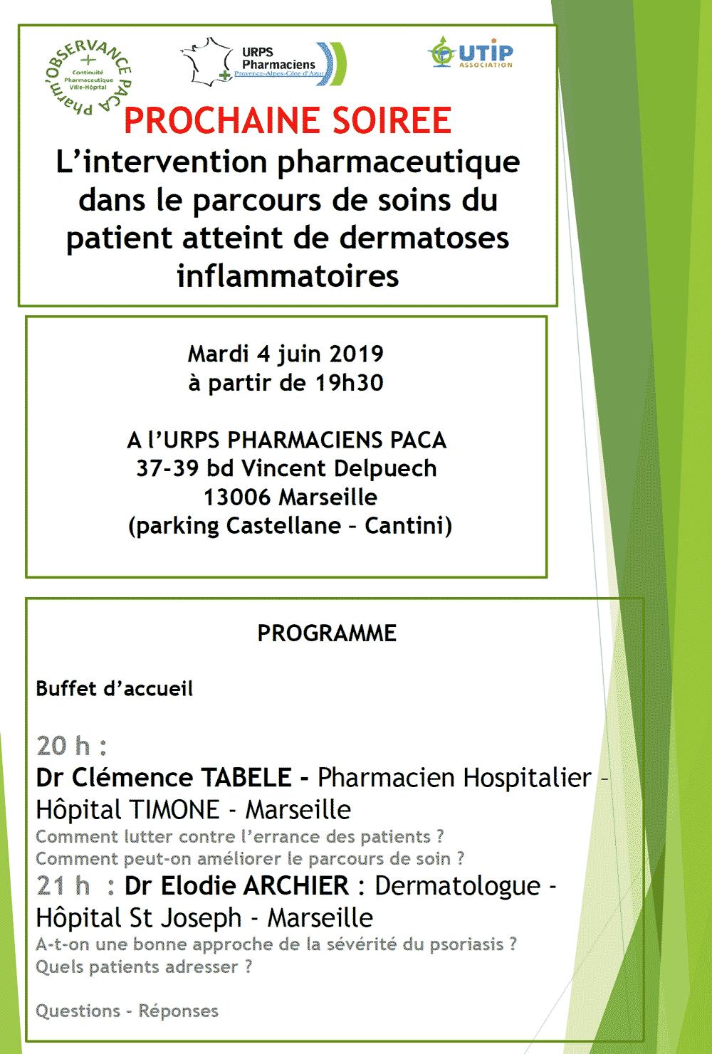 L'intervention Pharmaceutique Dans Le Parcours De Soins Du Patient Atteint De Dermatoses Inflammatoires