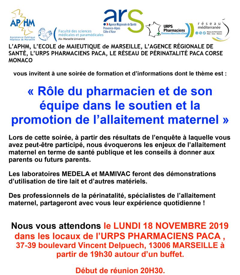 Rôle Du Pharmacien Et De Son équipe Dans Le Soutien Et La Promotion De L'allaitement Maternel
