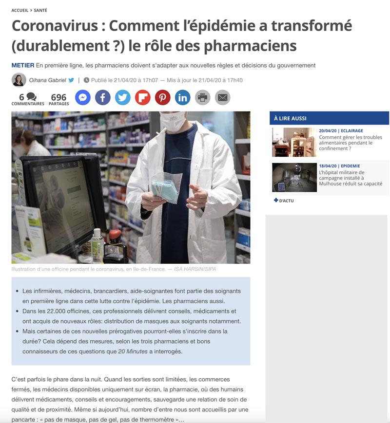 Crise Covid : Quand Un Média Grand Public Met En Valeur Le Rôle Du Pharmacien Et De Son équipe !