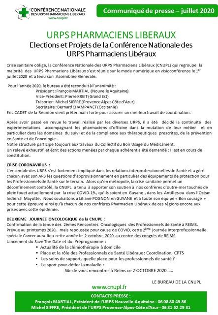 Elections Et Projets De La Conférence Nationale Des URPS Pharmaciens Libéraux